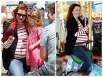 pregnant ALyson Hannigan, Satyana denisof, alexis denisof @ the santa monica pier