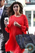pregnant Kourtney Kardashian attends Nokia Lumina event in NYC