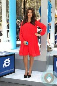 pregnant Kourtney Kardashian attends Nokia event in NYC
