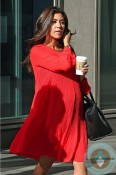pregnant Kourtney Kardashian out in New York City