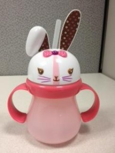 recalled Target Home Bunny Sippy Cup - pink