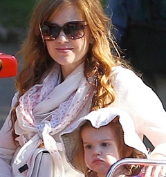 Isla Fisher Plays At The Park With Her Girls in France