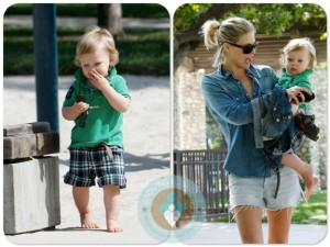 Ali Larter at Coldwater Canyon Park with Theodore