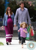 Alyson Hannigan, Alexis Denisof, Satyana Denisof @ the Park LA