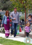 Alyson Hannigan, Alexis Denisof, Satyana Denisof at the Park LA