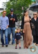 Carson Daly, Siri Pinter, Jackson James shop in NYC