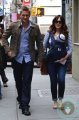 Curtis Stone, Lindsay Price with son Hudson NYC