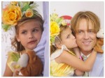Dannielynn and Larry Birkhead at the Kentucky Derby 2012