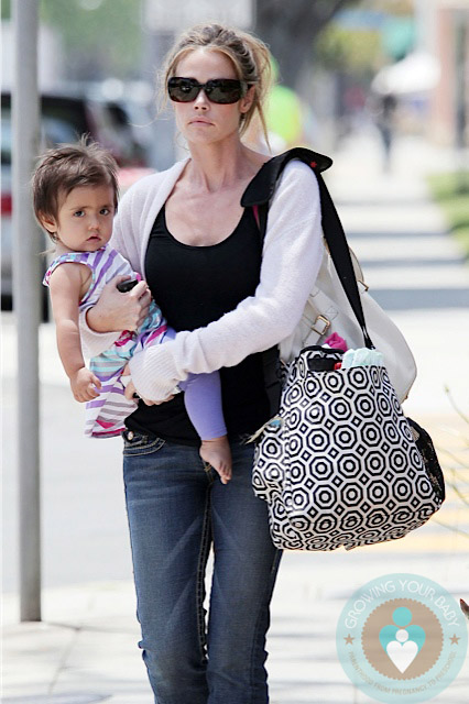 Denise Richards Eloise Richards Out In La Growing Your Baby