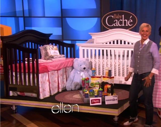 Ellen Degeneres Mothers Day Show Baby Cache Cribs Growing Your Baby Growing Your Baby