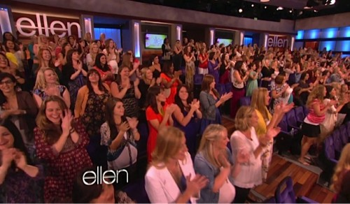 Ellen DeGeneres Mothers day show - pregnant audience