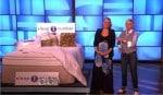 Ellen DeGeneres Mothers day show - sleep number bed