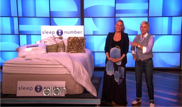 Ellen DeGeneres Mothers day show - sleep number bed
