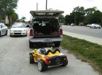 Grandparents Paul and Belinda Berloni Arrested For Towing granddaughter behind SUV in toy car 2