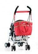 Perry Mackin diaper bag Harper red