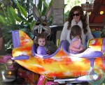 Isla Fisher, Olive Baron Cohen, Elula Baron Cohen at the park Cannes France