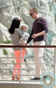 Jennifer Connelly and Paul Bettany with baby Agnes @ Eden Roc