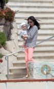 Jennifer Connelly and Paul Bettany with baby Agnes, Eden Roc