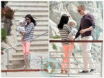 Jennifer Connelly and Paul Bettany with baby Agnes at Eden Roc