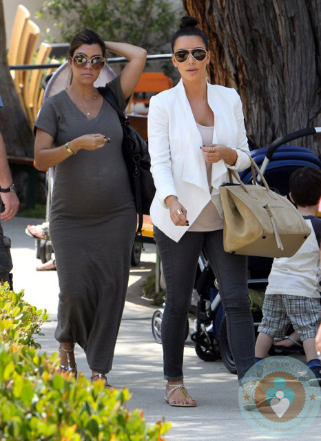 Kim Kardashian Pregnant Kourtney Kardashian Malibu Park