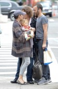 Marion Cotillard with son Marcel Canet, Guillaume Canet NYC