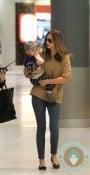 Miranda Kerr, Flynn Bloom arrive in Sydney