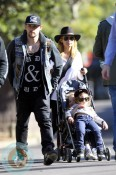 Nicole Richie, Joel Madden, Sparrow Madden, Harlow Madden at the Australia Zoo