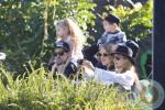 Nicole Richie, Joel Madden, Sparrow Madden, Harlow Madden enjoy the Australia Zoo