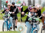 Pink Alecia Moore, Willow Hart, Carey Hart Mothers Day bike ride