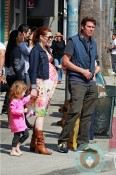 Pregnant Alyson Hannigan, Alexis Denisof, Satyana Denisof out in Venice Beach