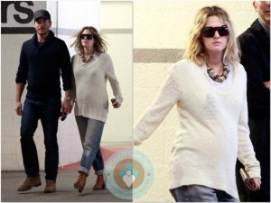Pregnant Drew Barrymore and Will kopelman doctors visit LA