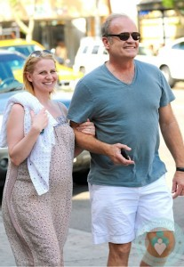 Pregnant Kayte Walsh, Kelsey Grammer out in NYC