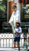 Pregnant Kourtney Kardashian, Mason Disick @ the park