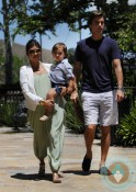 Pregnant Kourtney Kardashian, Scott Disick, Mason Disick @ park in LA