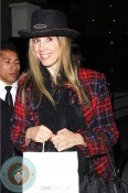 Pregnant Mira Sorvino at STK February 10, 2012