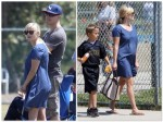 Pregnant Reese Witherspoon, Jim Toth and Deacon's Football game