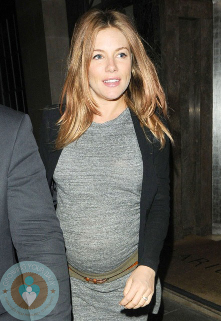 Pregnant Sienna Miller Mothers Day London Growing Your Baby