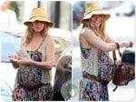 Pregnant Sienna Miller in London