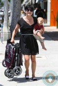 Selma Blair, Arthur Bleick out in LA baby jogger