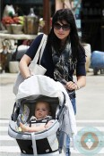 Selma Blair, son Arthur Bleick in LA Orbit G2