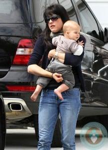 Selma Blair with her son Arthur in LA