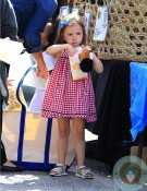 Seraphina Affleck at the farmers market