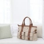 Perry Mackin diaper bag harper cream