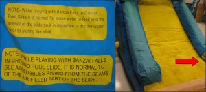image of recalled Banzai Inflatable Pool Slides 2