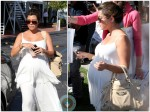 kourtney Kardashian shopping Bel Bambini LA