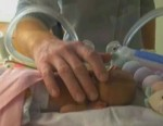 micro-preemie Kenna Moore weighing 1 pound
