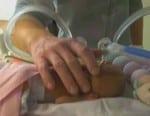 micro-preemie Kenna Moore weighing 1 pound