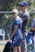 pregnant Reese Witherspoon, Jim Toth at Deacons football game