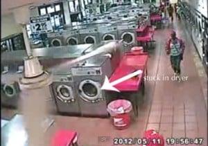 toddler stuck in dryer