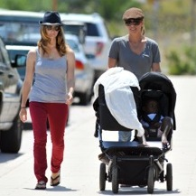 Jillian Michaels & Heidi Rhoades Enjoy A Family Day Out!